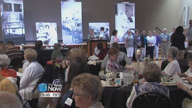 275 volunteers for the hospital came out for the annual appreciation luncheon.