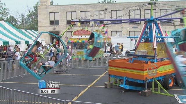 Volunteers are hard at work preparing St. Rose for its annual festival this weekend.