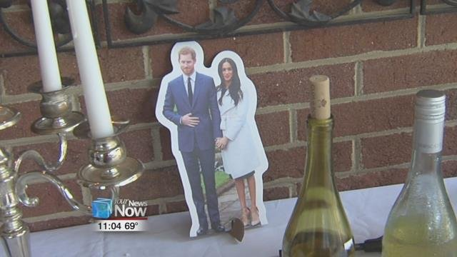 Lima resident and native Briton Ann Warren held a royal wedding reception at their home to mark the marriage of British Prince Harry and actress Meghan Markle.