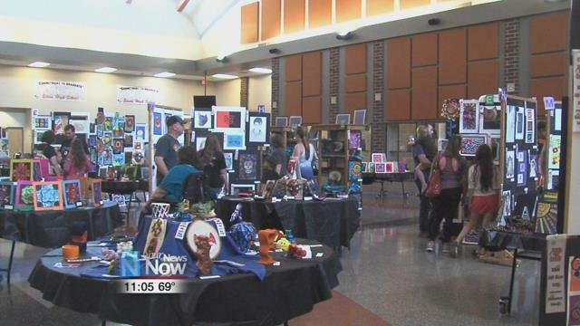 The Elida School District held their annual art show, showcasing hundreds of art pieces done by students over the past year.