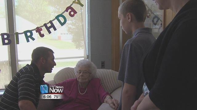 Rockhold celebrated her 100th birthday with a party at Trinity United Methodist Church.