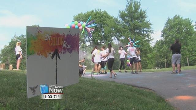 Around 50 people came out for the 2nd annual 3K Color Run at Faurot Park to help battle the opioid epidemic and homelessness.