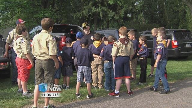Saturday morning the troop of cub scouts, partnered with the Vietnam Veterans Chapter 89, scoured the entire cemetery to place American flags on the graves of fallen veterans.