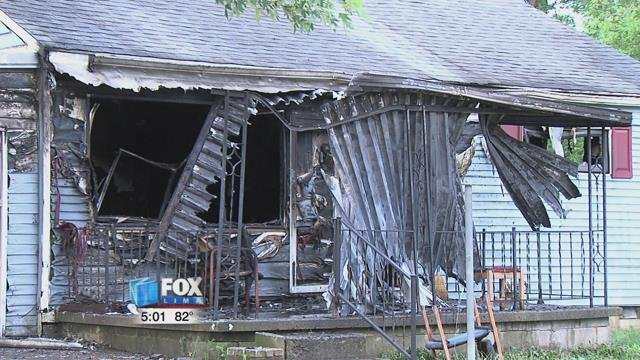 The home was destroyed by the fire and the fire department estimates the damages to be around $46,000.