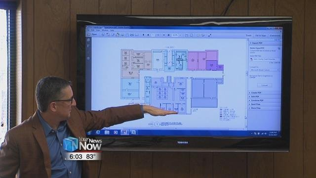 Commissioners recently getting updated drawings from K2M Designs for the courthouse project.