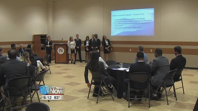 The students wrapped up their undergraduate careers with the Capstone Presentation.
