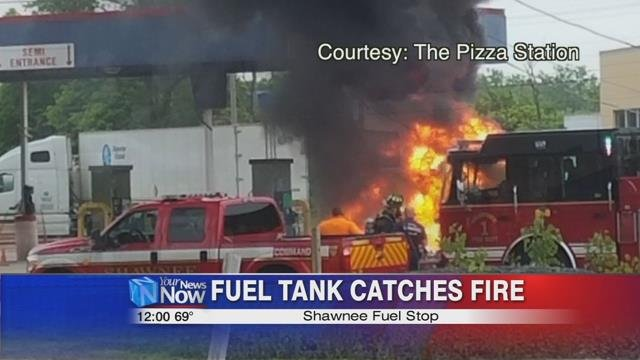 The Shawnee Fuel Stop will be closed for at least 24 hours while they inspect and clean up from the fire.