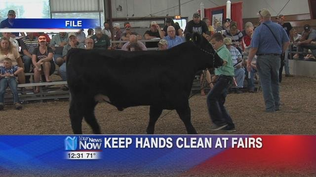 Authorities are urging people to use good hygiene to protect themselves from viruses and other illnesses while visiting livestock exhibits.