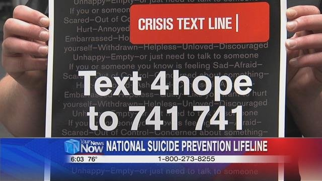 For immediate help call the toll-free National Suicide Prevention Lifeline at 1-800-273-TALK, which is available 24 hours a day, 7 days a week.