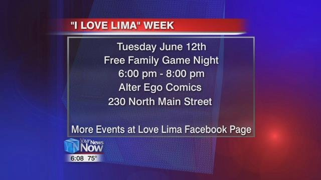 """I Love Lima"" continues Tuesday night at a free family game night."