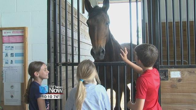 The three day camp focuses on teaching kids about basic horse care, feeding, grooming, and riding skills.
