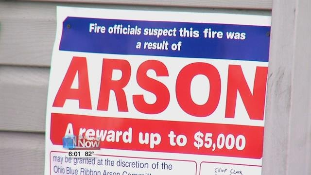 A man was arrested around the time of four house fires that occurred in one weekend in Kenton.