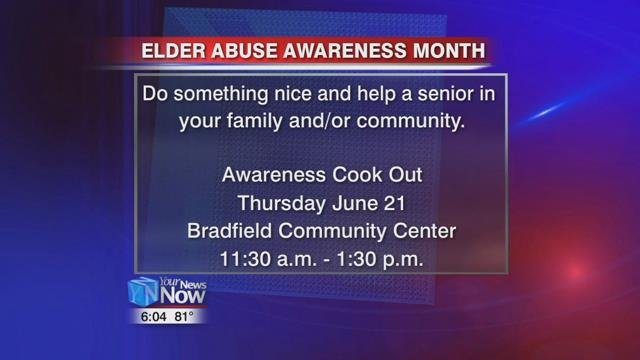 Thursday, June 21st there will be an awareness cookout at the Bradfield Center from 11:30 am to 1:30 pm. It's free and open to the public.