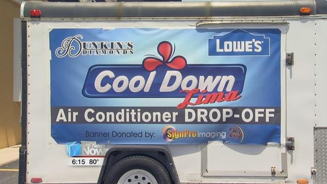Councilman Derry Glenn has a wait list of 85 families in the Lima area who need help staying cool for the summer and he's joining with Dunkin's Diamonds and Lowes to encourage the community to help out.