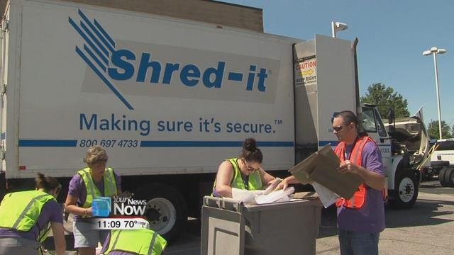 The Area Agency on Aging 3 hosted their second Shred It Day.