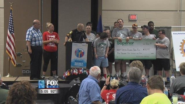 The Allen County law enforcement along with other local businesses, raised a total of $4,150.
