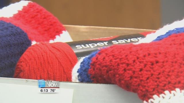 If you have got some yarn, you can help keep a veteran warm this year.