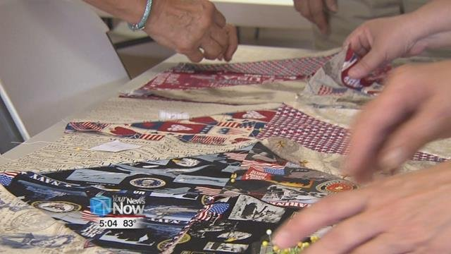 Cindy of Cindy's Seamsters says that the group has handmade 59 blankets in total.
