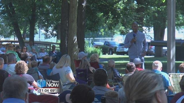 A large crowd turned out to Gormley Park for the 13th annual Church in the Park.