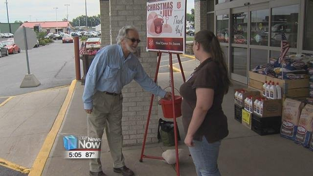 Starting Monday, July 9th, the red kettles will be making their way back out to Kewpee, Chief Markets, Walmart, and other locations around Lima for their Christmas in July campaign.