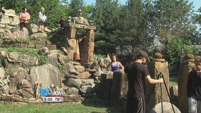 The cast and crew filmed scenes in Wapakoneta's Temple of Tolerance.