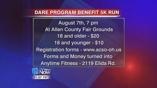 At 7:00 p.m., a fundraiser 5K for the Allen County D.A.R.E. program will be run during the National Night Out event.
