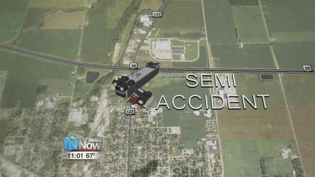An accident in Van Wert County late this afternoon backed up traffic on U.S. 30.