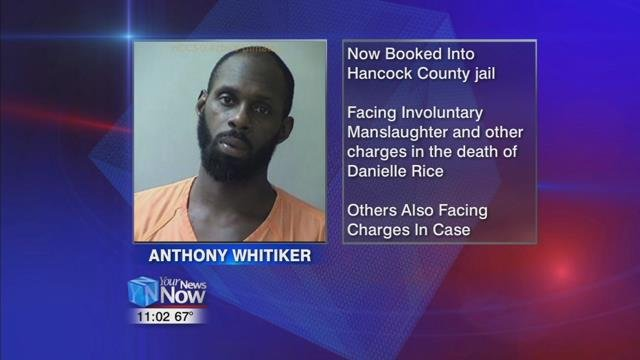 44-year-old Anthony Whitiker has been booked into the Hancock County Jail.