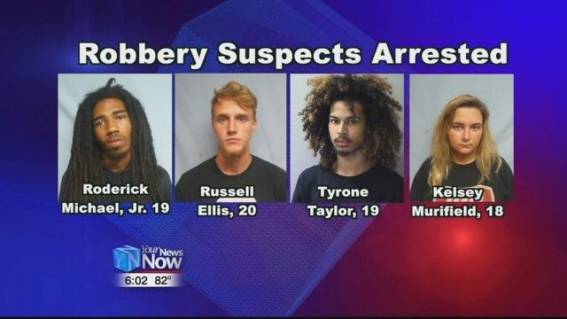 Four people were arrested following an early Wednesday morning armed robbery in Findlay.