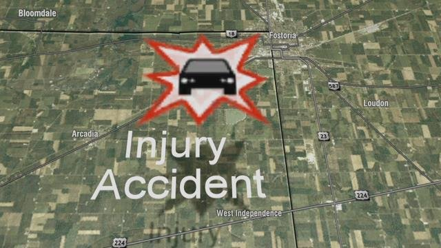 A Fostoria man is in critical condition after a collision in Hancock County Friday afternoon