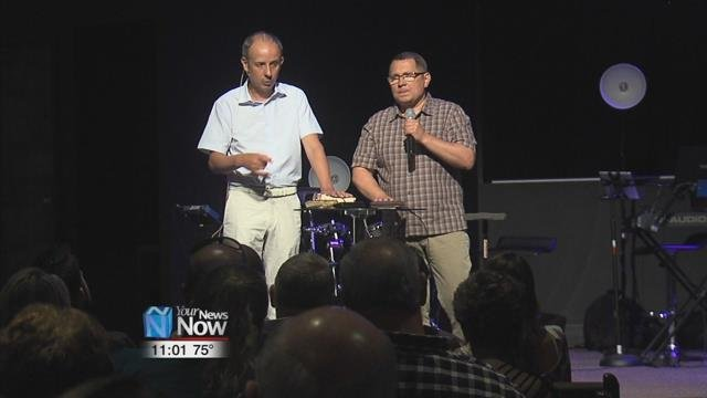 A Wapakoneta church spent their Sunday service hearing how their ministry has effected change across the world.