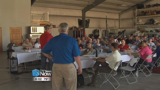 Farmers and vendors gathered in Forest, Ohio for the third annual 4R Technology Review Field Day, on Tuesday.