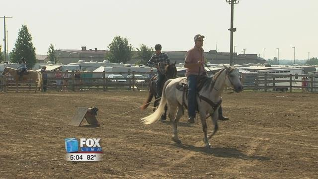 Competitors from different age groups got up on their horses and showed off their roping abilities.