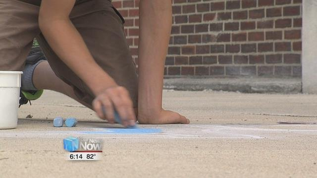 Professional chalk artists will be using their talents this weekend by creating their own chalk art around the square.