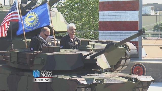 The foundation introduced the half-sized replica of the Abrams M1A2Sep V2 Main Battle Tank.