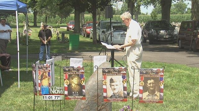 Six months ago people in the Kenton community set out to honor a group of World War II soldiers who never made it home alive.