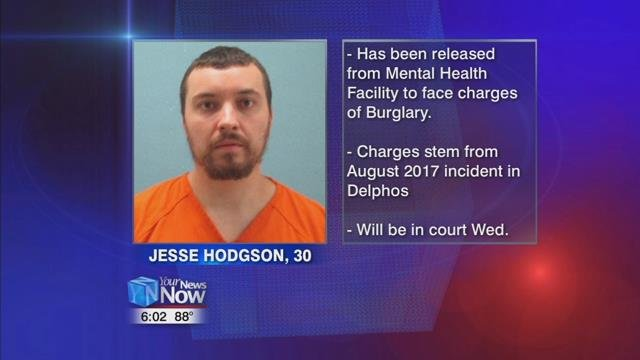 30-year-old Jesse Hodgson of Delphos was indicted by the 2018 August session of the Van Wert County Grand Jury for a burglary of a home back on August 3rd of 2017.
