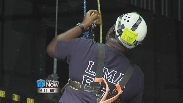 Just one week ago in downtown Lima, the Lima Fire Department began training in rope rigging and rescue scenarios at the Veterans Memorial Civic and Convention Center.