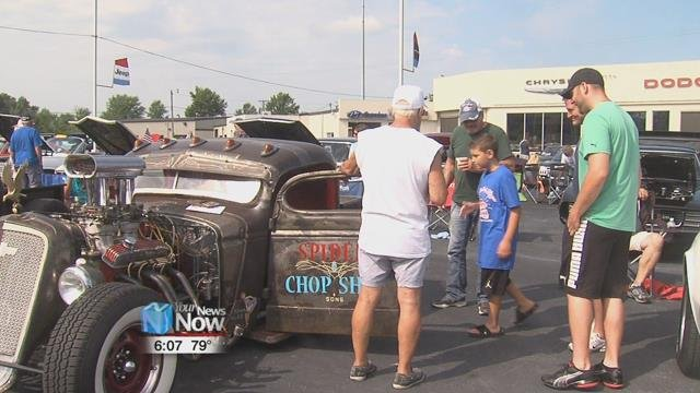 The dealership cleared one of their lots to make room for over 80 cars to raise money for the Heartbeat of Lima pregnancy care center.