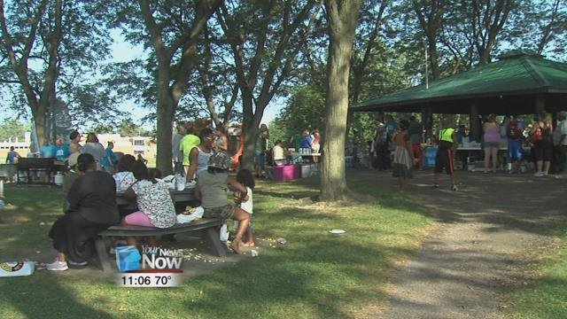 The Northside Neighborhood Association held their second annual Party in the Park community cook out at Robb Park.