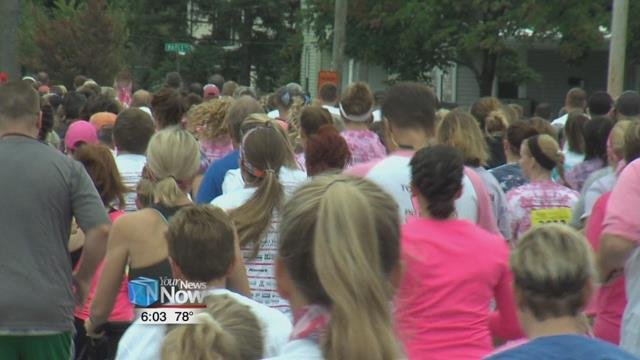 Their goal this year is $250,000, some of which will go to breast cancer research and some will also come back to surrounding counties, leaving an impact on the Lima area.