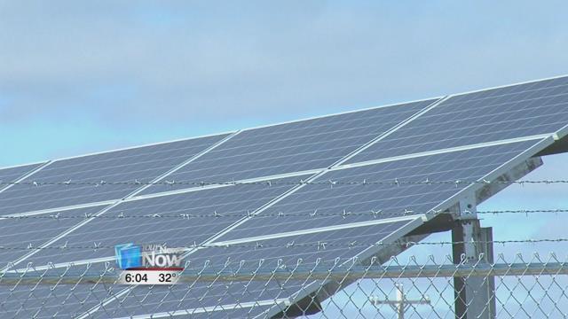 Last December, the solar panels came online