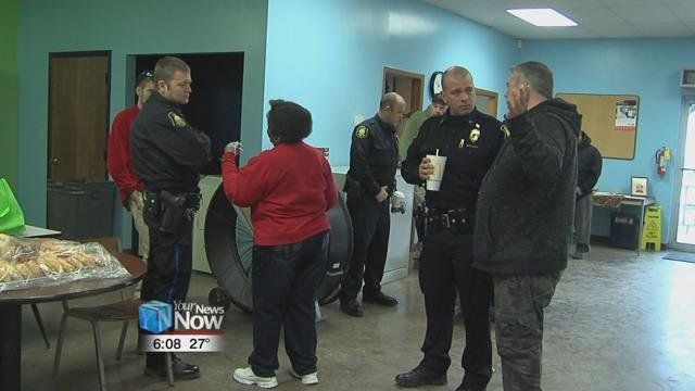 Dozens turnout for Coffee with a Cop at Our Daily Bread ...