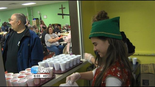 Food And Fellowship Served During Our Daily Bread Christmas Eve
