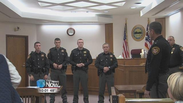 The four deputies --  Ryan Bullinger, Alan Ogle, Skyler Noble, and Evan Thomas -- were sworn in by Allen County Sheriff Matt Treglia after a long hiring process.
