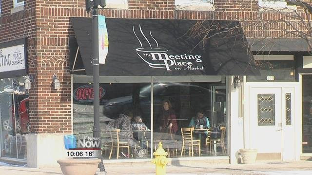 The Meeting Place on Market decided to celebrate the building with free coffee for their customers.