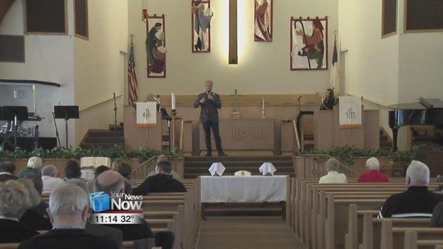 The couple visited Spencerville Trinity and Westside United Methodist Church to display their talents and also talk to the congregations there.