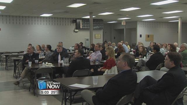 Rotary members in St. Marys got a look Wednesday afternoon at how local government is working on the city.