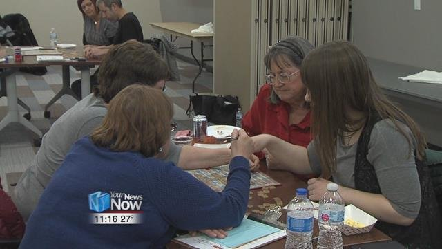 The 13th annual Word Building for Literacy Scrabble tournament was held Saturday afternoon at the St. Rita's Auxiliary Conference Center.