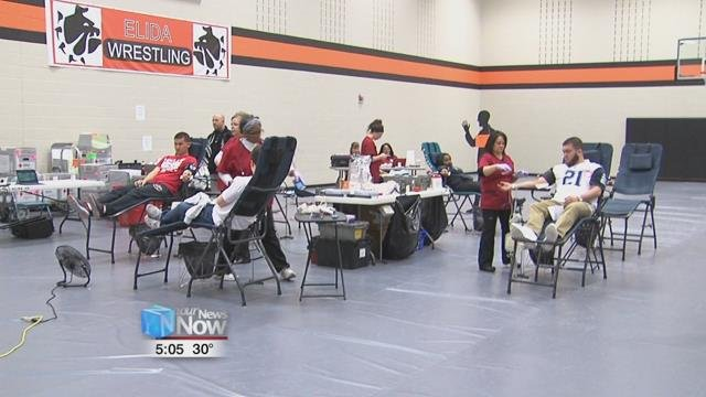 The Elida High School chapter of the Future Farmers of America held one of their annual blood drives Thursday.